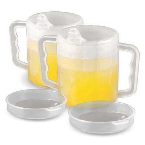 Homecraft Mug à deux anses avec deux couvercles - Lot de 2