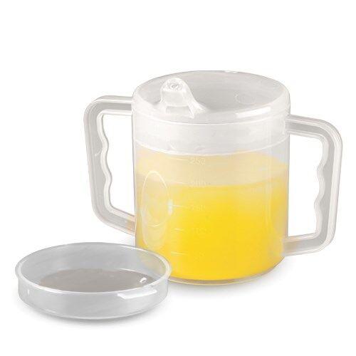 Homecraft Mug à deux anses avec deux couvercles - Lot de 6