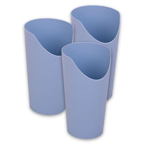 Careserve Verre à découpe nasale - Bleu - Lot de 3