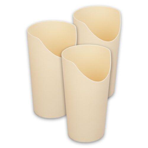 Careserve Verre à découpe nasale - Crème - Lot de 3