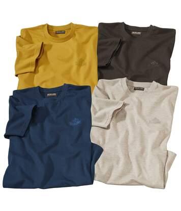Atlas for Men Le Lot de 4 Tee-Shirts South Patagonie L marron