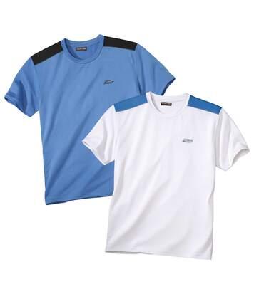 Atlas for Men Lot de 2 Tee-Shirts Sport Cup L blanc