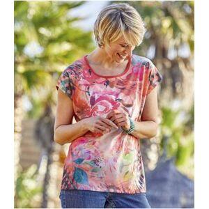 Atlas for Men Tee-Shirt Corail Imprimé Exotique S motif - Publicité