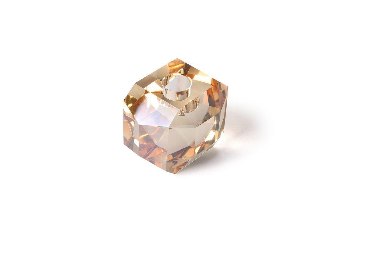 HK Living Bougeoir en verre Cristal diamant ambre