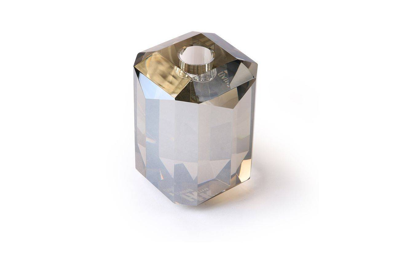 HK Living Bougeoir en verre Cristal diamant gris