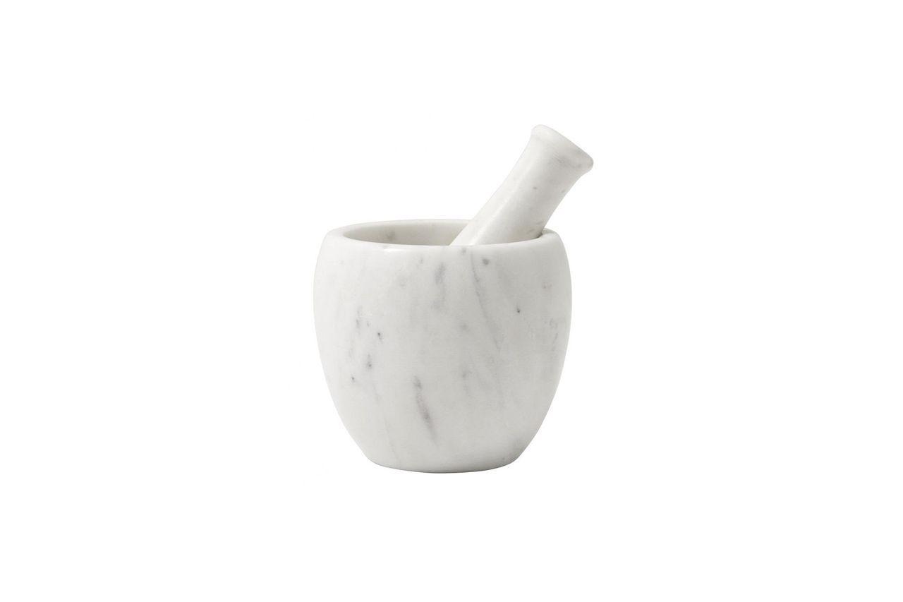 Nordal Mortier et pilon en marbre blanc