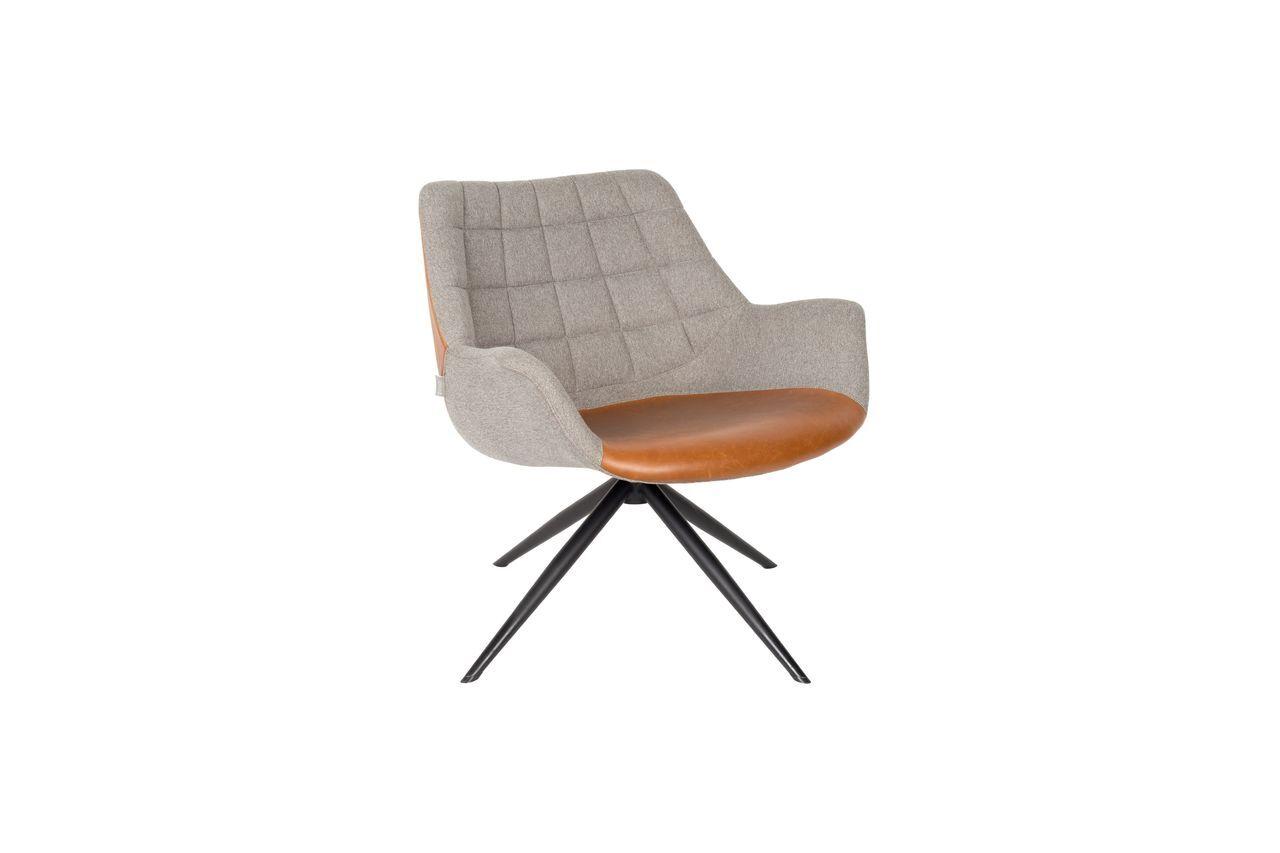 Zuiver Chaise lounge Doulton Vintage Marron