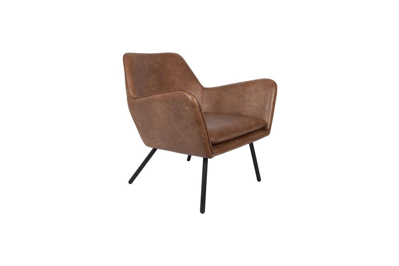 White Label Fauteuil lounge Bon coloris brun