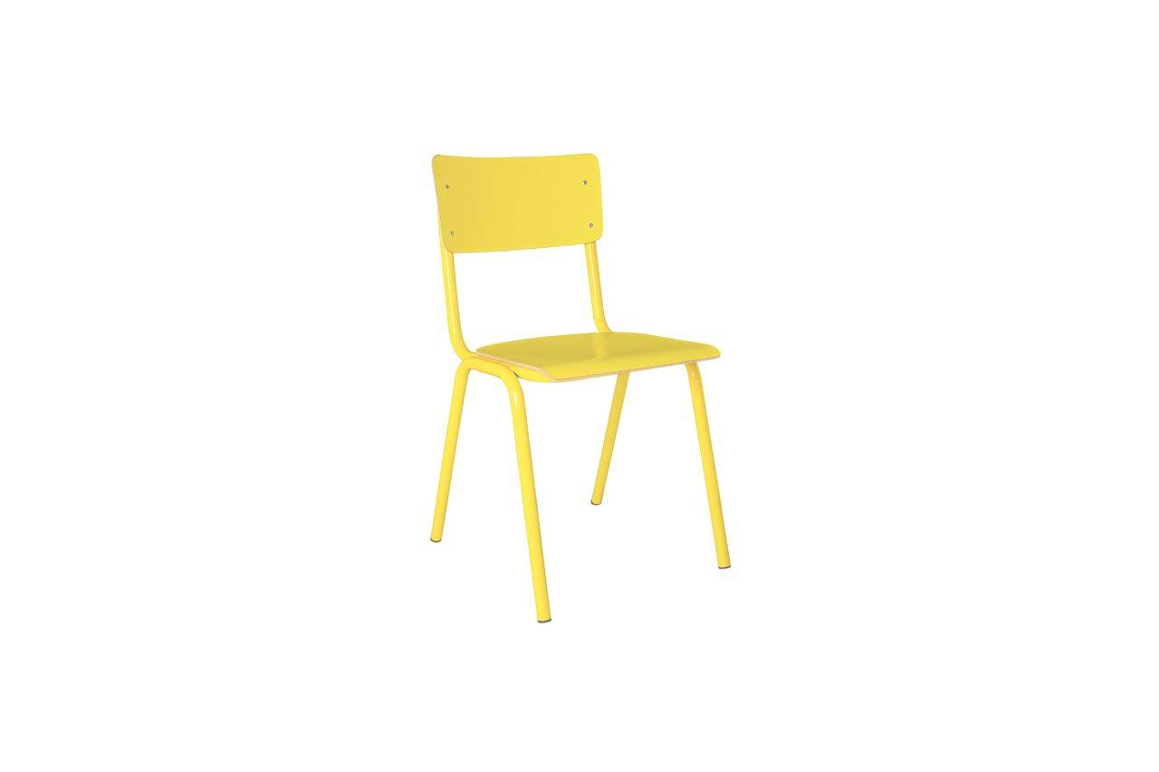 Zuiver Chaise Back To School Jaune