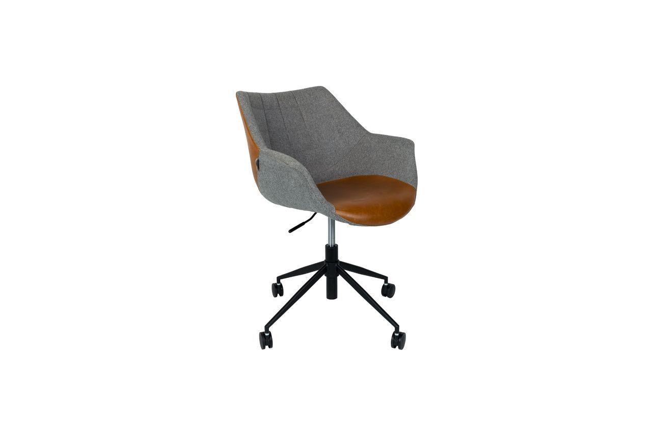 Zuiver Chaise de bureau Doulton Vintage Brown