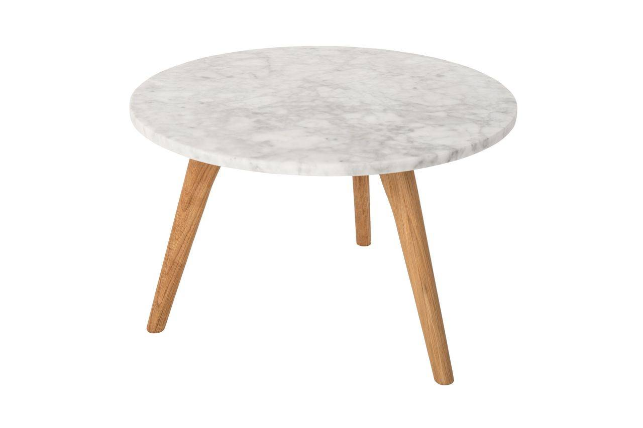 Zuiver Table d'appoint Pierre Blanche taille L