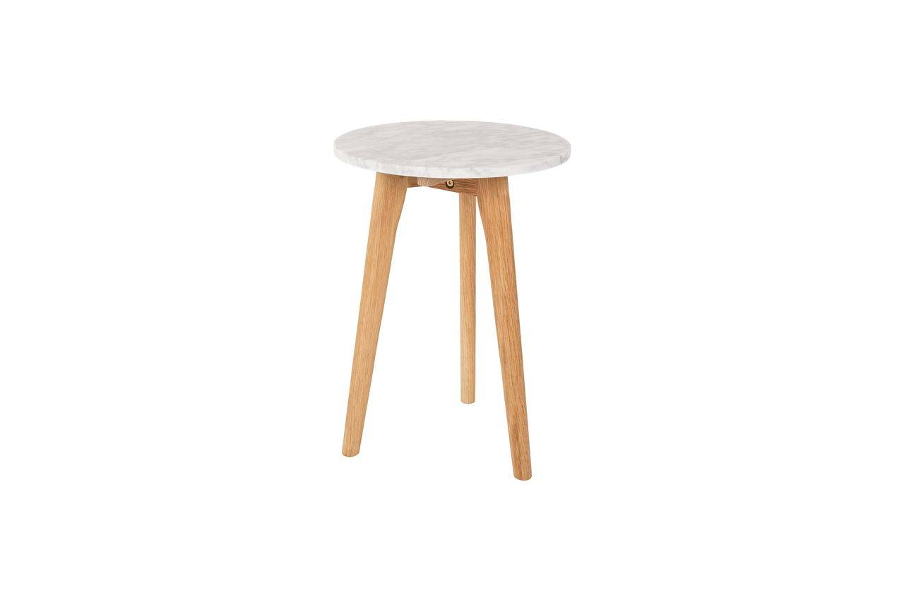 Zuiver Table d'appoint Pierre Blanche taille S
