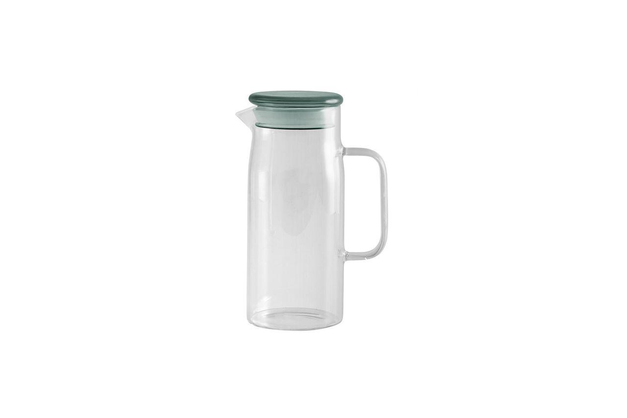Nordal Pot en verre Peyrun avec couvercle coloré