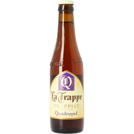 Brasserie Koningshoeven La Trappe Quadrupel - Bouteilles De Bière 33 Cl - Brasserie Koningshoeven - Saveur Bière