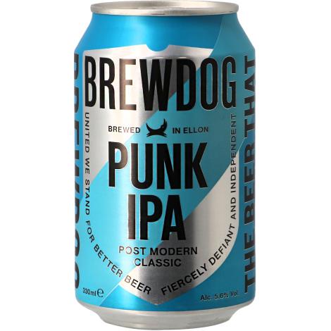 Brewdog Brewery Brewdog Punk Ipa - Can - Bouteilles De Bière 33 Cl - Brewdog Brewery - Saveur Bière