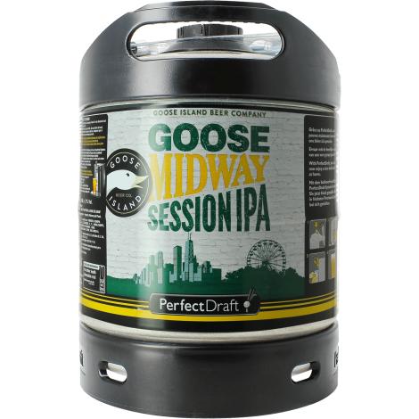 Goose Island Beer Company Fût de Bière 6L Goose Midway Session Ipa   Goose Island Beer Company   Saveur Bière
