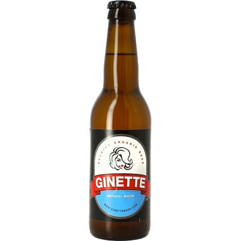 Brasserie Ginette Ginette Natural White Bio - Bouteilles De Bière 33 Cl - Brasserie Ginette - Saveur Bière