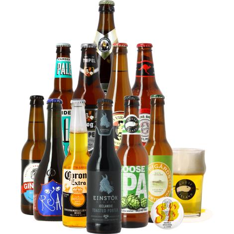 Saveur Bière Assortiments De Bière : Coffret Cadeau Bières Du Monde   Saveur Bière