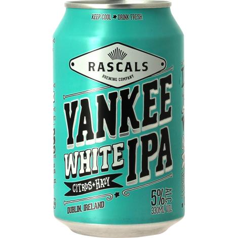 Rascals Brewing Yankee White Ipa - Bouteilles De Bière 33 Cl - Rascals Brewing - Saveur Bière