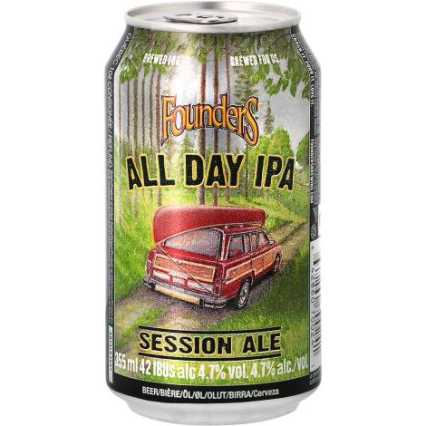Founders Brewing Company Founders All Day Ipa - Can - Bouteilles De Bière 35,5 Cl - Founders Brewing Company - Saveur Bière