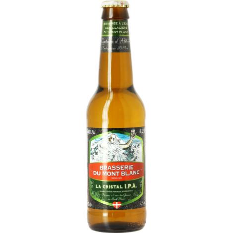 Brasserie du Mont Blanc Cristal Ipa - Bouteilles De Bière 33 Cl - Brasserie Du Mont Blanc - Saveur Bière