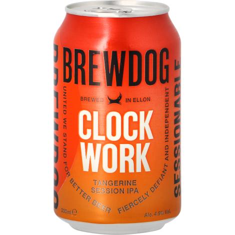 Brewdog Brewery Brewdog Clockwork Tangerine - Canette - Bouteilles De Bière 33 Cl - Brewdog Brewery - Saveur Bière