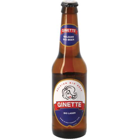 Brasserie Ginette Ginette Natural Lager Bio - Bouteilles De Bière 33 Cl - Brasserie Ginette - Saveur Bière