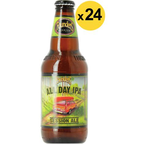 Founders Brewing Company Big Pack Founders All Day Ipa - 24 Bières - Bouteilles De Bière 35,5 Cl - Founders Brewing Company - Saveur Bière