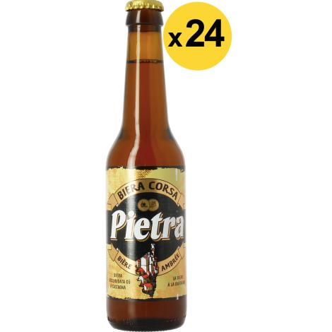 Brasserie Pietra Big Pack Pietra - 24 Bières - Bouteilles De Bière 33 Cl - Brasserie Pietra - Saveur Bière