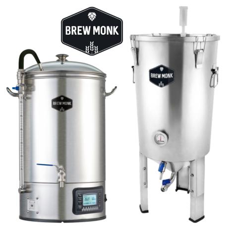 Brew Monk Pack Duo Brew Monk - Cuve De Brassage 30 L + Cuve De Fermentation 30 L - Bouteilles De Bière - Brew Monk - Saveur Bière