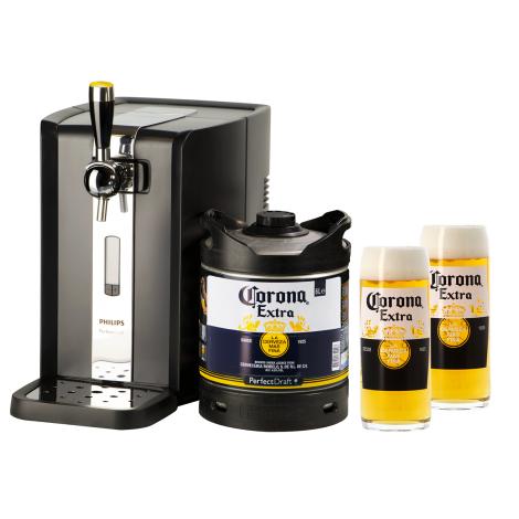 Corona Pack Tireuse Perfectdraft Corona Et 2 Verres Corona Offerts - Bouteilles De Bière - Corona - Saveur Bière