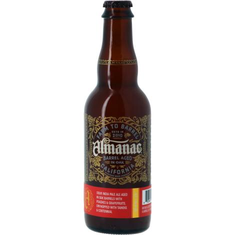 Almanac Beer Company Almanac Peach Pamplemousse Hopcake Oak Ba - Bouteilles De Bière 37,5 Cl - Almanac Beer Company - Saveur Bière