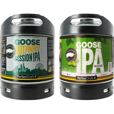 Goose Island Beer Company Pack 2 Fût de Bières Goose Midway Session Ipa / Goose Island Ipa   Goose Island Beer Company   Saveur Bière