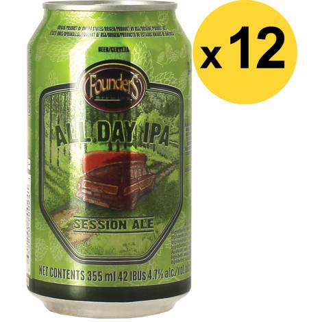 Founders Brewing Company Pack Founders All Day Ipa Now In A Can - 12 Bières - Bouteilles De Bière - Founders Brewing Company - Saveur Bière