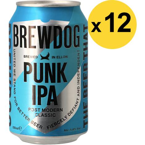 Brewdog Brewery Pack Brewdog Punk Ipa - 12 Bières - Bouteilles De Bière - Brewdog Brewery - Saveur Bière