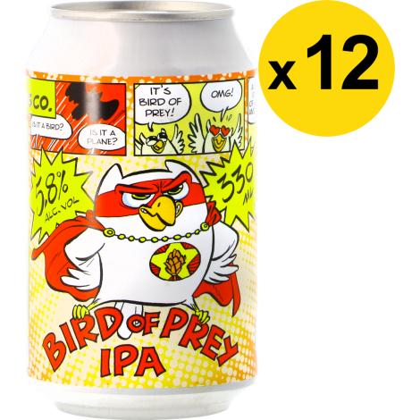 Uiltje Brewing Company Pack Uiltje Bird Of Prey Ipa - 12 Bières - Bouteilles De Bière - Uiltje Brewing Company - Saveur Bière