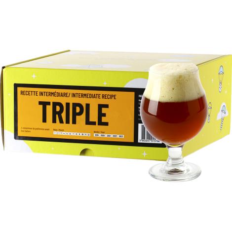 InterDrinks Recette Bière Triple - Recharge Pour Beer Kit Intermédiaire   Interdrinks   Saveur Bière