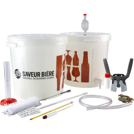 Saveur Bière Kit De Brassage Débutant Deluxe 30 L Pour Kit à Bière   Saveur Bière