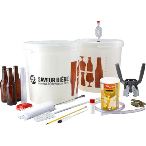 InterDrinks Kit De Brassage Débutant Deluxe Bière Blonde Pour Kit à Bière Pilsner   Interdrinks   Saveur Bière