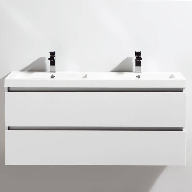 Thalassor Meuble salle de bain double vasque 120 cm CITY blanc laqué