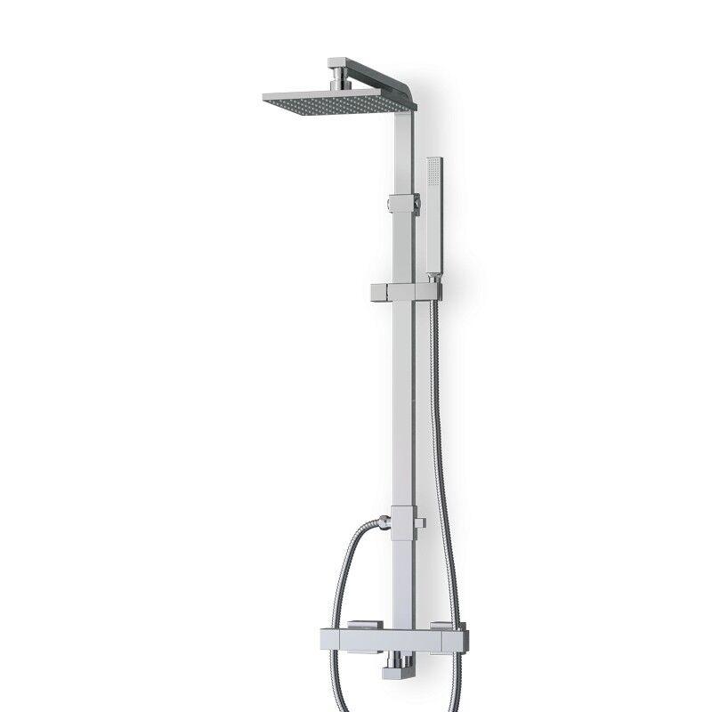 Thalassor Colonne de douche thermostatique avec douchette KUBIK