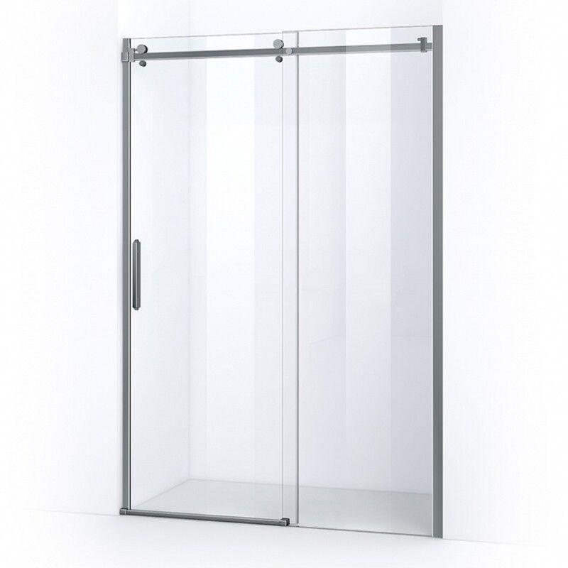 Thalassor Porte de douche 140 cm coulissante sur rail LUMIO verre 8 mm