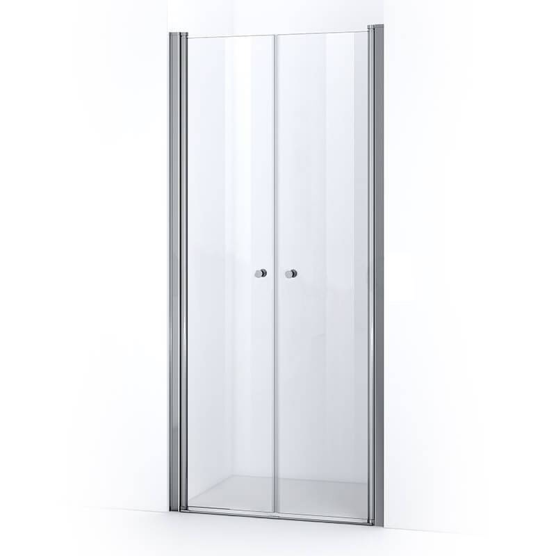 Thalassor Porte de douche 90 cm à 2 battants ELBA verre Nanotech