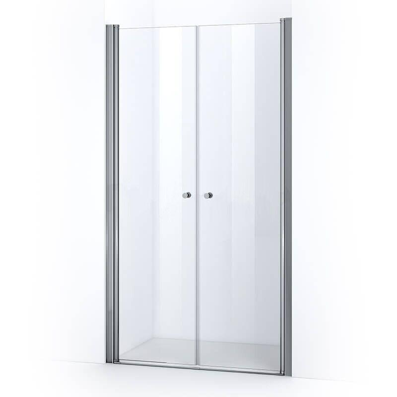 Thalassor Porte de douche 115 cm à 2 battants ELBA verre Nanotech