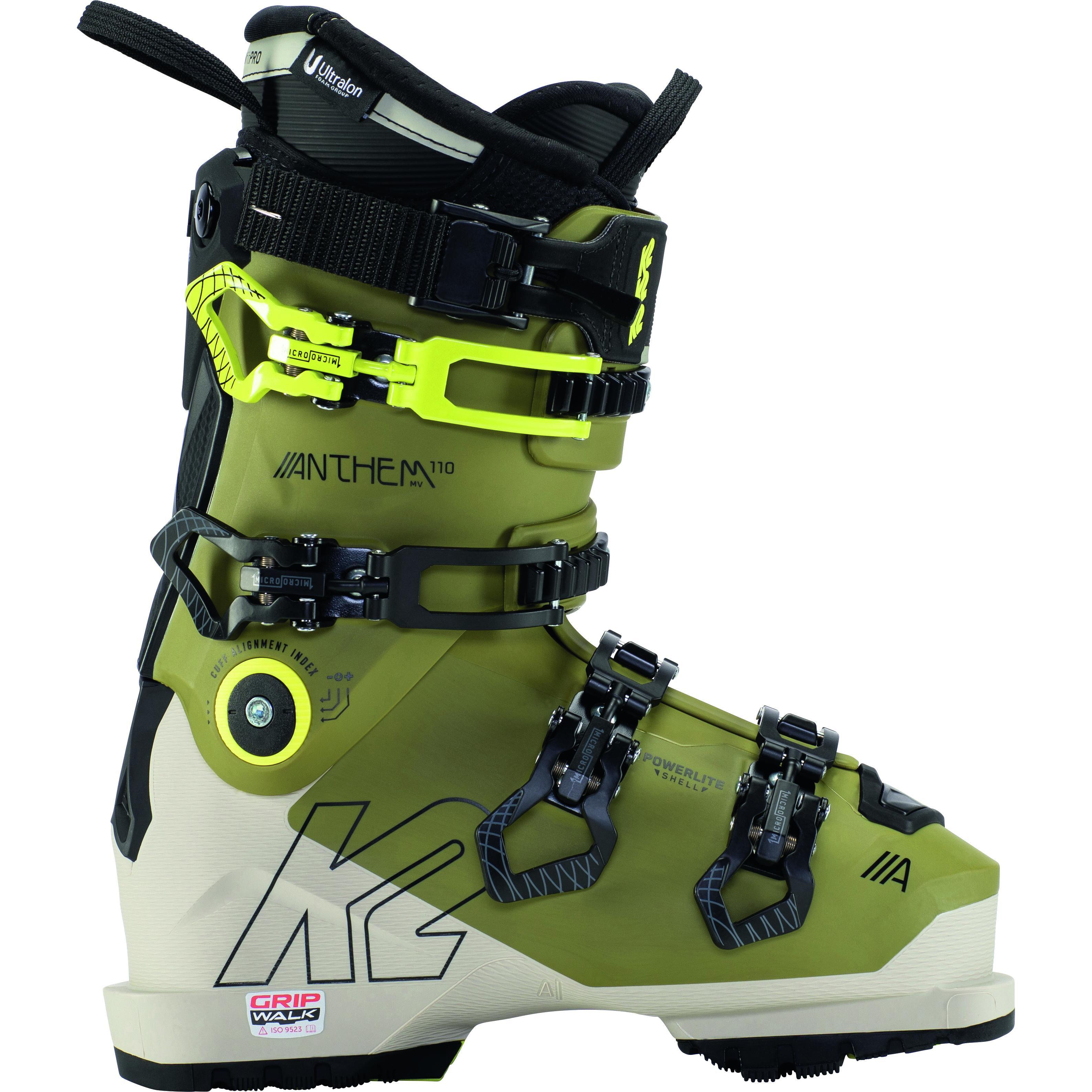 k2 Chaussures De Ski K2 Anthem 110 Mv Gripwalk Green-khaki Femme