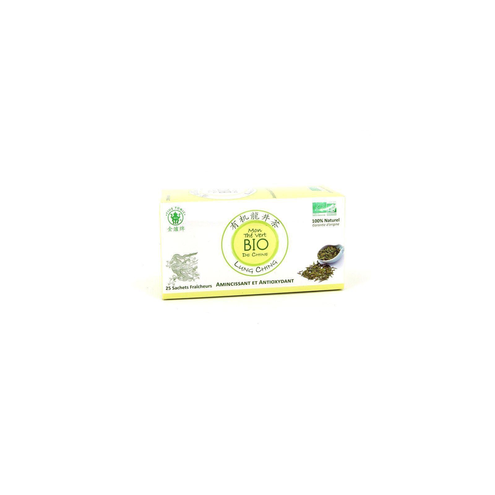 Asia Marché Thé vert Lung Ching BIO / boîte de 25 sachets