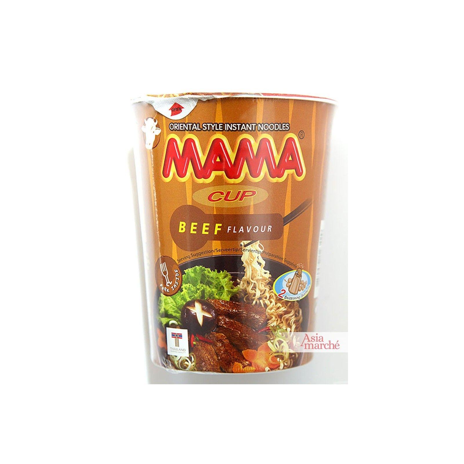 Asia Marché Soupe de nouilles au bœuf en bol de 70g Mama