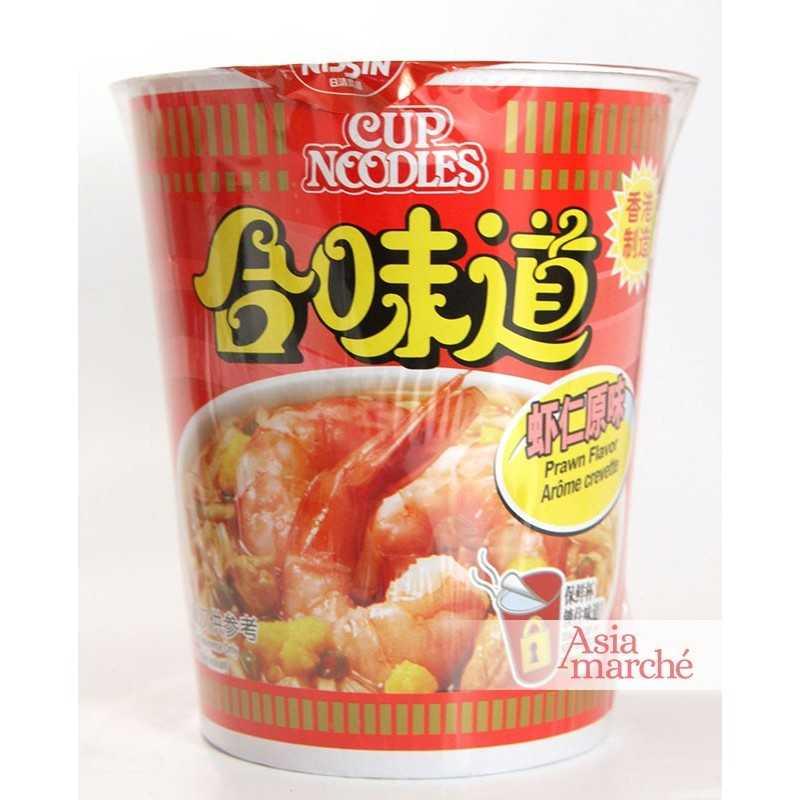 Asia Marché Soupe de nouilles à la crevette, Cup noodles 75g Nissin