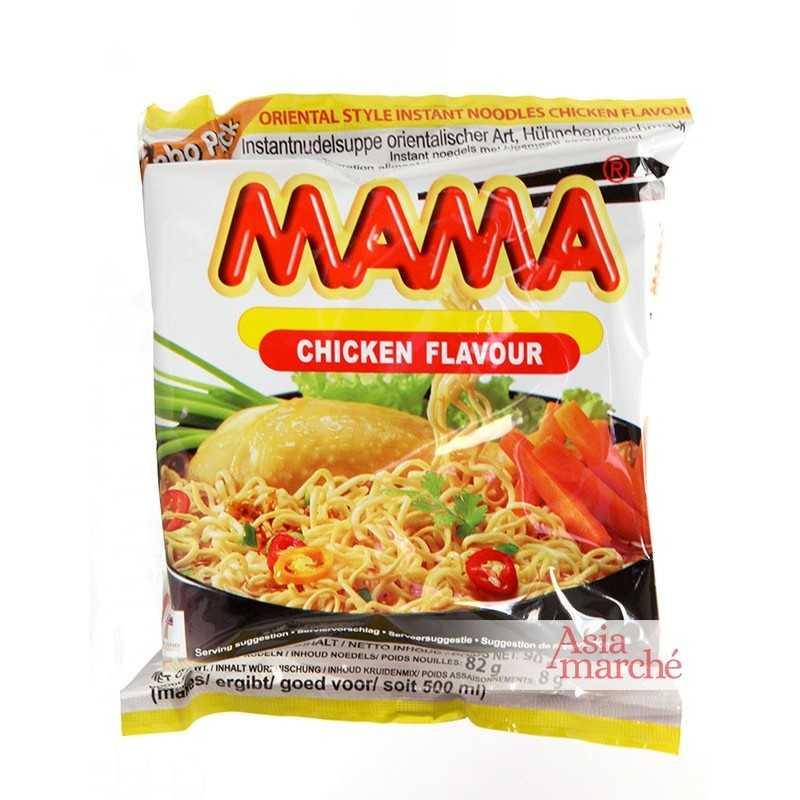 Asia Marché Soupe de nouilles au poulet 55g Mama Lot de 30