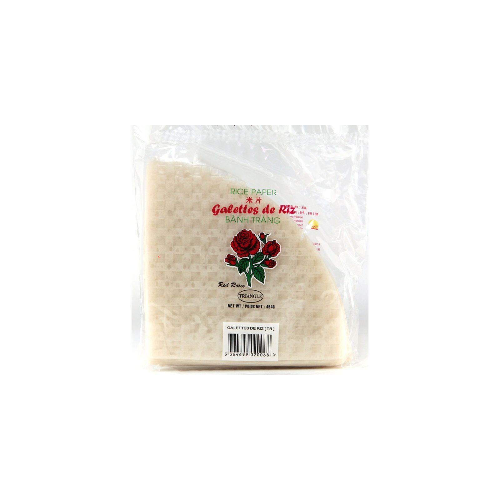 Asia Marché Galettes, Feuilles de riz triangulaire 454g Red Roses